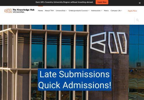 لقطة شاشة لموقع The Knowledge Hub Universities بتاريخ 09/09/2021 بواسطة دليل مواقع خطوات
