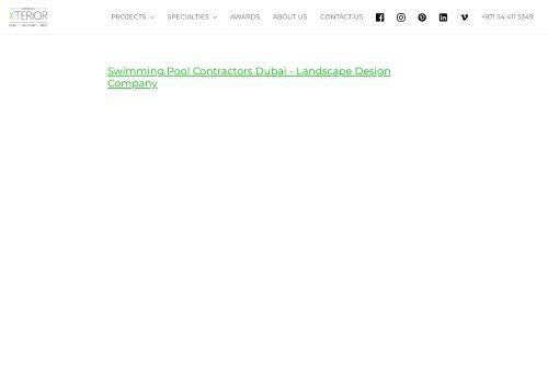 لقطة شاشة لموقع Swimming Pool Contractors Dubai بتاريخ 14/09/2021 بواسطة دليل مواقع خطوات
