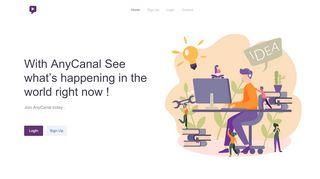 لقطة شاشة لموقع Anycanal بتاريخ 22/10/2019 بواسطة دليل مواقع خطوات