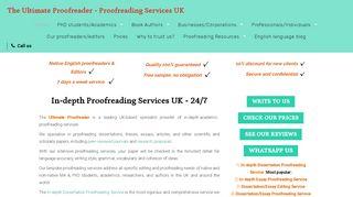 لقطة شاشة لموقع The Ultimate Proofreader بتاريخ 16/05/2020 بواسطة دليل مواقع خطوات