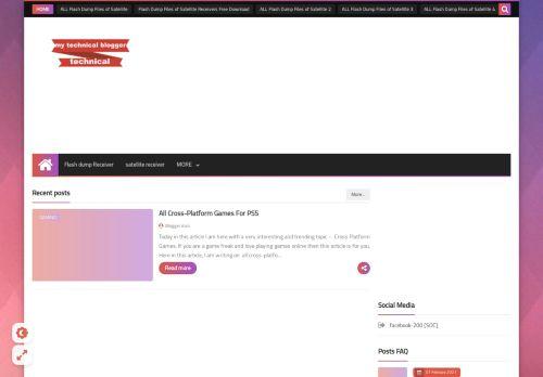 لقطة شاشة لموقع my technical blogger بتاريخ 01/03/2021 بواسطة دليل مواقع خطوات