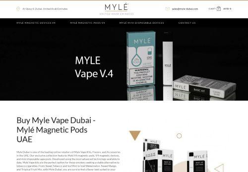 لقطة شاشة لموقع Myle Vape Dubai بتاريخ 04/03/2021 بواسطة دليل مواقع خطوات